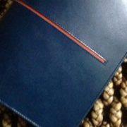 ライン入りのノートカバー
