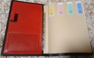 チョコレートとオレンジのカスタム手帳カバー