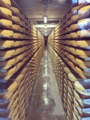 グリュイエールのチーズ工場
