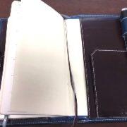 インディゴブルーの手帳カバー