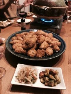 手作りいなり寿司と蒸し鍋
