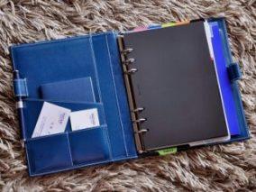 インディゴブルーのシステム手帳