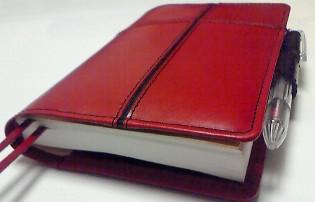 十字ラインの手帳カバー