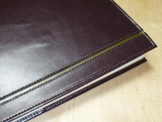 ビターチョコレートのA5手帳カバー