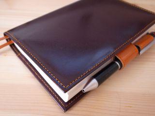 ヌメ革のほぼ日手帳カバー
