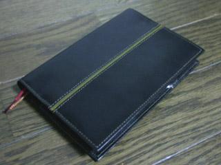 黒のヌメ革 手帳カバー