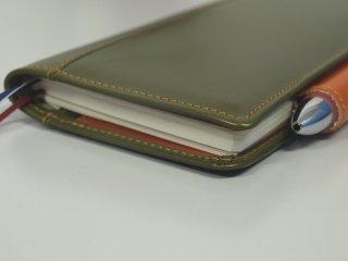 深緑の手帳カバー 革