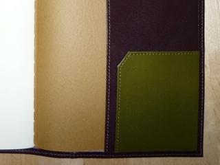 オリーブ色のポケット