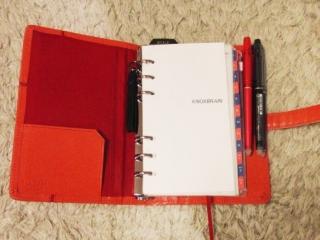 オレンジのシステム手帳