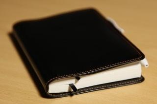 革のほぼ日手帳カバー ブラック
